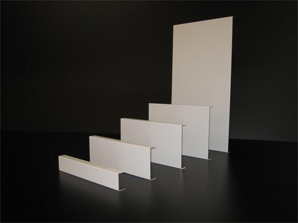 White Aluminum C-Channel- stock sizes 2