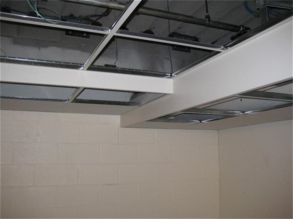 Eliminate acoustical or drywall soffits
